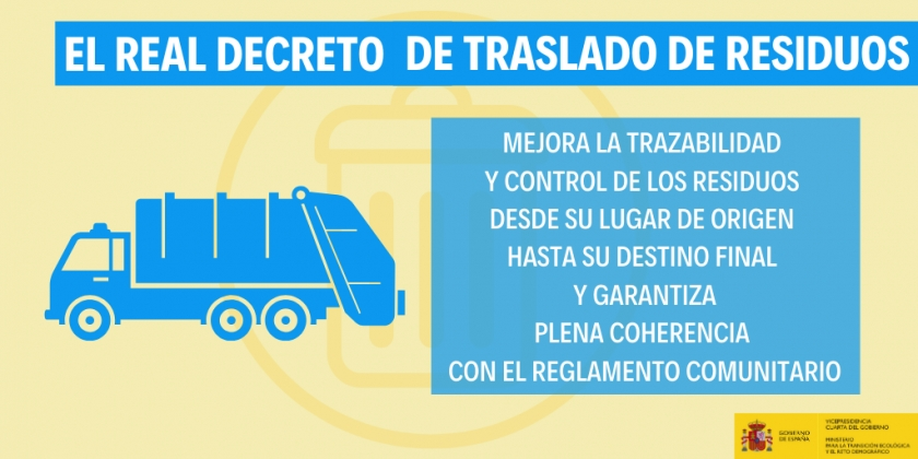 Publican el Real Decreto 553/2020 que regula el traslado de residuos en el interior del territorio español